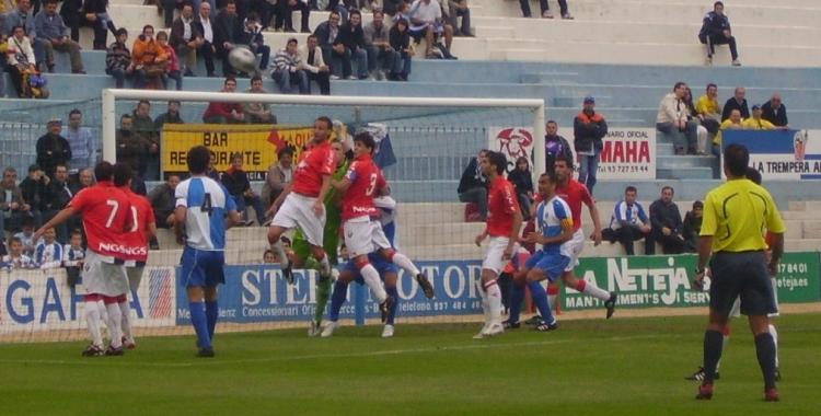 Imatge d'un Sabadell-Osasuna Promesas. La Nova Creu Alta ja ha rebut en múltiples ocasions a rivals de Navarra i La Rioja a Segona B   Arxiu RS