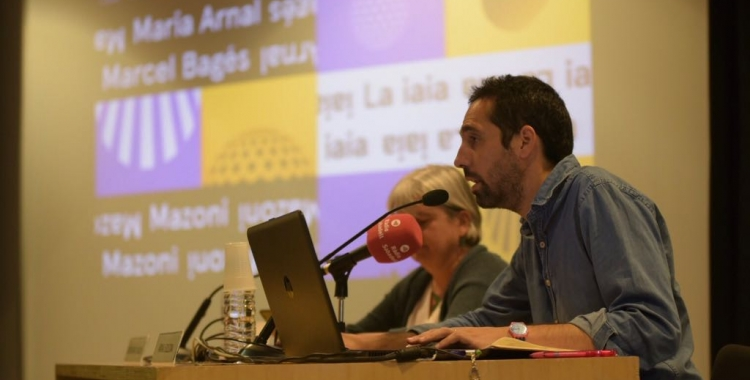 Arnau Solsona i Montserrat Chachón durant la presentació | Roger Benet