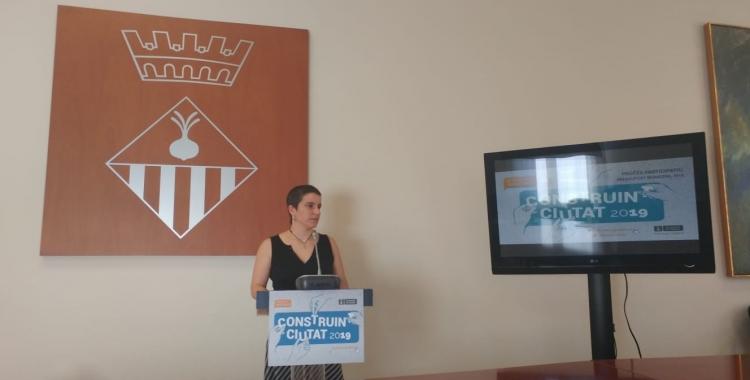 Glòria Rubio presentant la tercera edició de Construint Ciutat | Pere Gallifa