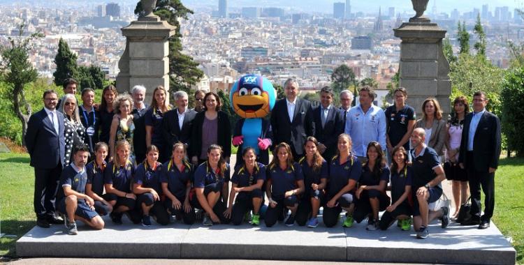 La selecció espanyola a la presentació de l'Europeu d'avui
