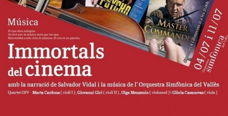 Cartell del concert Immortals del cinema