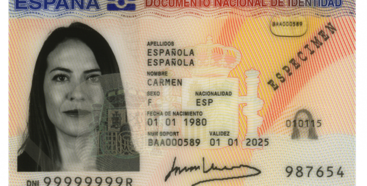 Exemple de Document Nacional d'Identitat | DGP