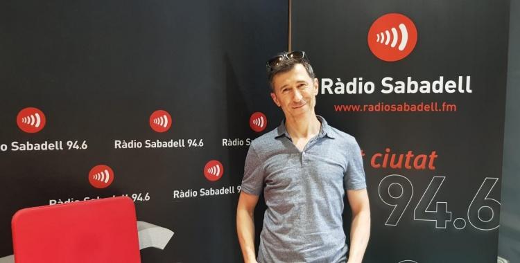 Pol Cruells en la seva visita a Ràdio Sabadell | Raquel Garcia