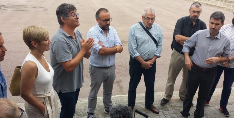 Girbau, a la roda de premsa d'aquest matí/ Pau Duran