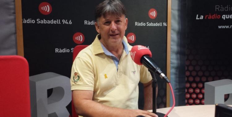Jordi Grané a l'estudi de Ràdio Sabadel | Pau Duran