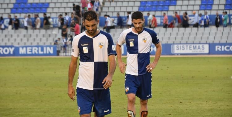 Arturo i Aleix Coch, capcots després del partit del passat diumenge | Críspulo Díaz