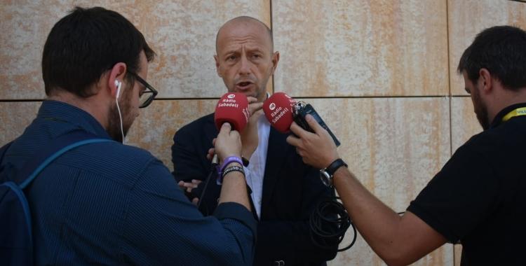Calzada, en el moment de l'entrevista a Ràdio Sabadell | Críspulo Díaz