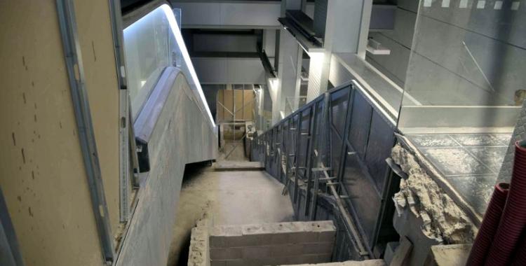 Imatge de l'espai reservat per a les escales mecàniques a Sabadell Plaça Major   Roger Benet