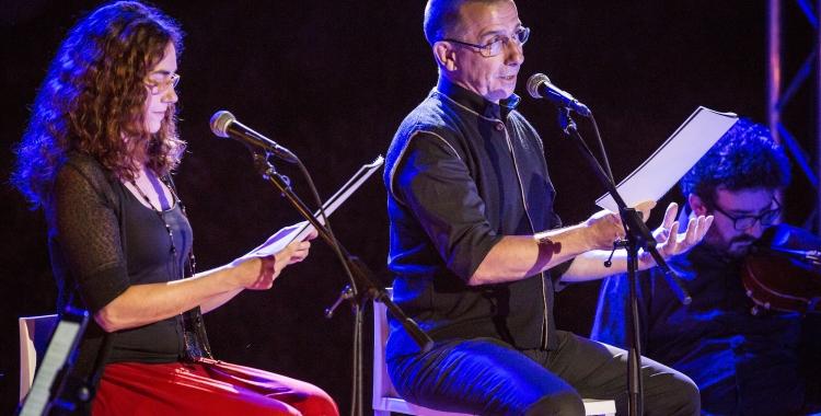 Laura Conejero i Jordi Boixadertas durant l'espectacle | Berta Tiana