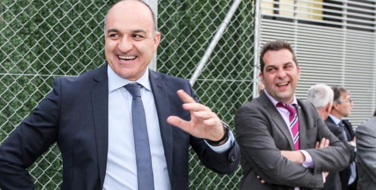 Andreu Subies visitant fa uns anys les instal·lacions d'Olímpia | FCF