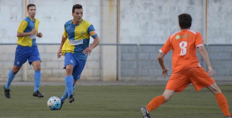 El capità, Josep Piñol, va ser clau en l'últim triomf contra el Llagostera B | Roger Benet