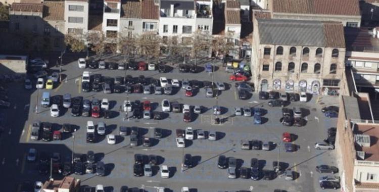 Imatge aèria de l'aparcament del Vapor Turull | Cedida