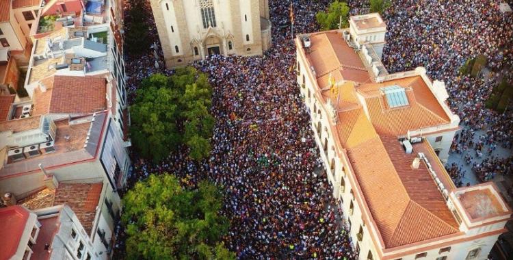 Imatge aèria de la mobilització del 3-O   Abel Peña