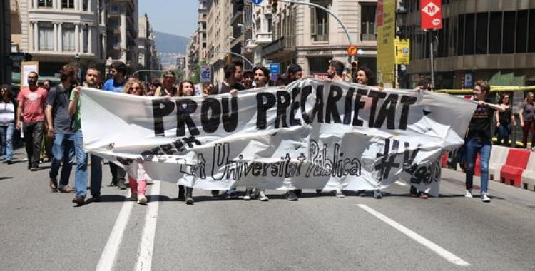 Manifestació contra la precarietat laboral   ACN