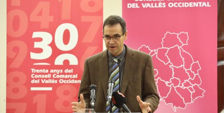 Ignasi Giménez, en la presentació de l'informe | Cedida