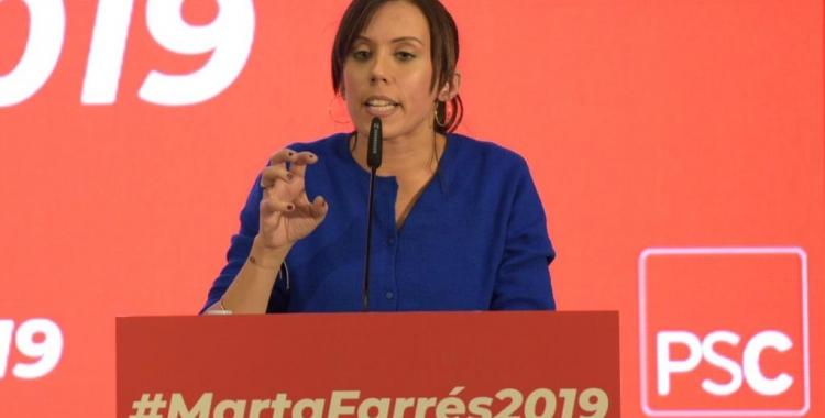 Marta Farrés, durant l'acte de presentació   Roger Benet
