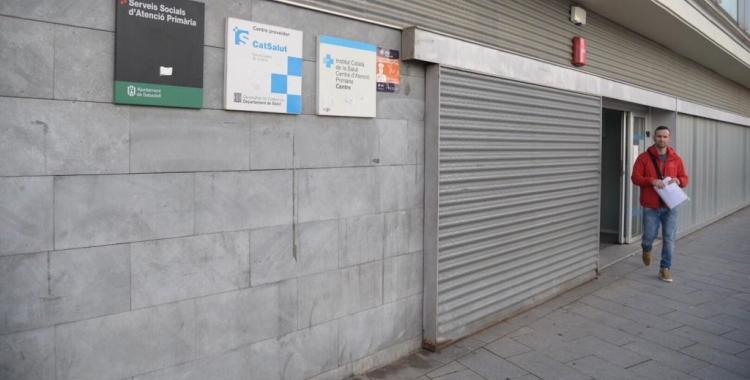 La vaga ha portat el CAP Centre ha anul·lar les visites del dia/ Roger Benet