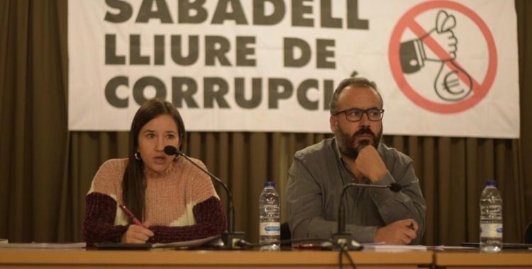 Acte de la Plataforma Sabadell Lliure de Corrupció, en els sisè aniversari del cas Mercuri | Roger Benet