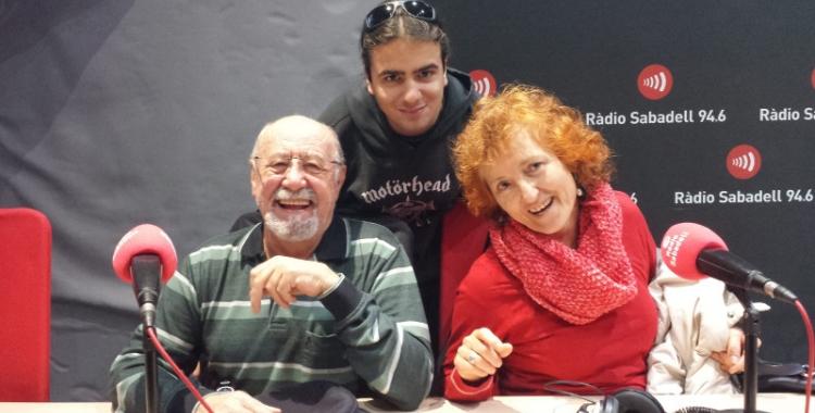 Quim Ripoll, Nicolás Silva i Fe Moya, membres de la Marea Pensionista