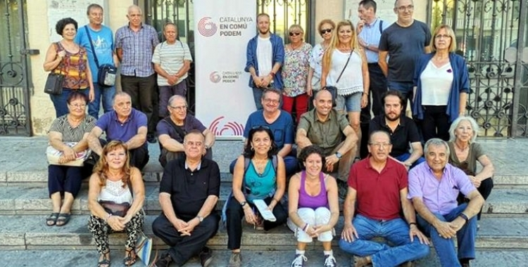 Imatge dels integrants, fins ara, de la confluència En Comú Podem Sabadell | Arxiu