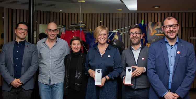 Membres de Xarxa Onion, el Mercat Central i El Diari de Sabadell | Sofía Amat