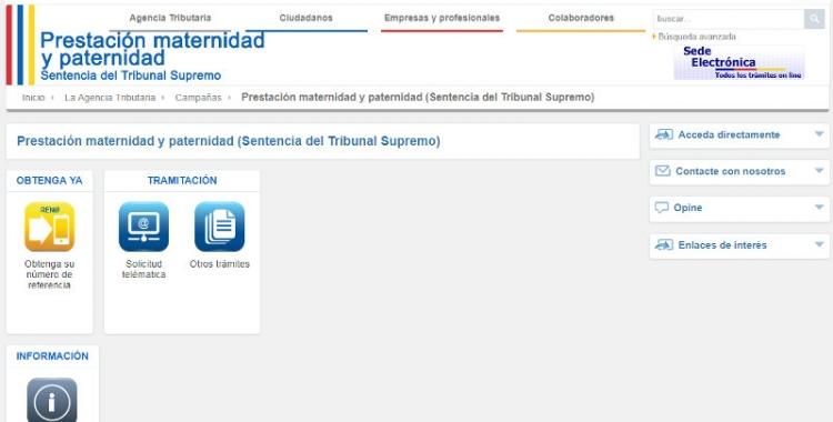 Imatge del portal web on es pot fer la reclamació