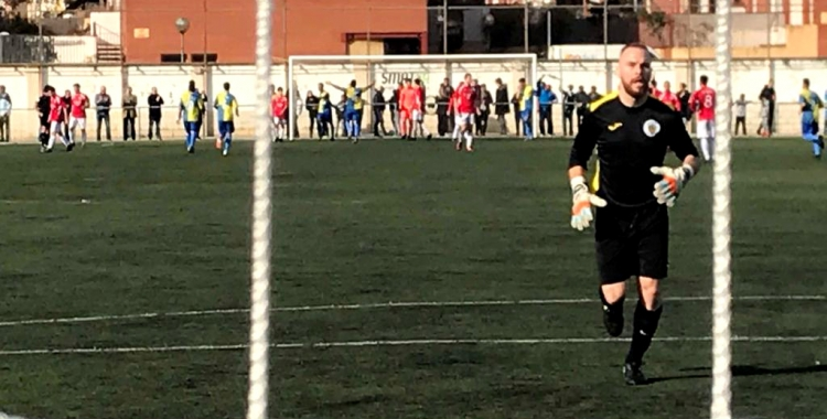 Lluri Granado celebrant en primer pla el gol de penal de Jairo | Adrián Arroyo
