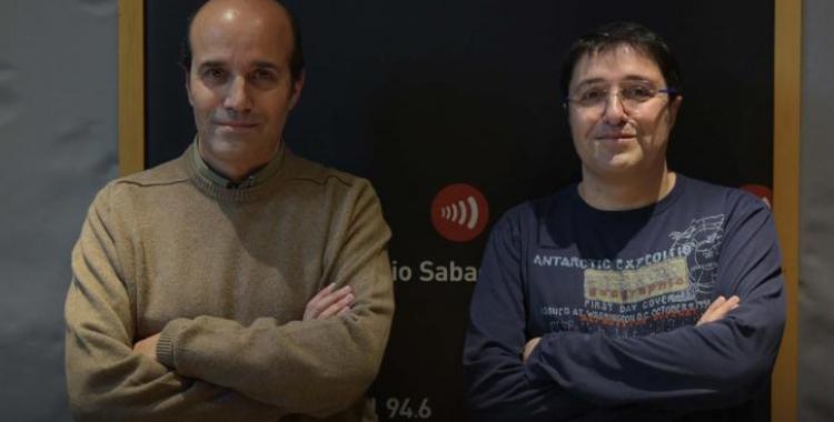 Toni i Xasqui Ten, als estudis de Ràdio Sabadell/ Roger Benet