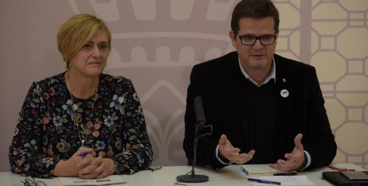 Marisol Martínez i Isac Albert a la roda de premsa | Roger Benet