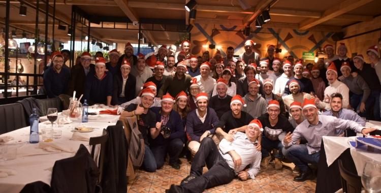 Fotografia de grup després del dinar de Nadal   Críspulo Díaz