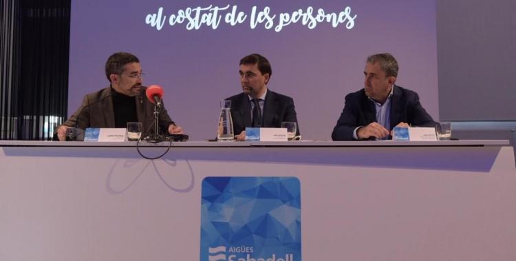 Els responsables de CASSA i el regidor Fernández han presentat avui les dades del Fons Social/ Roger Benet