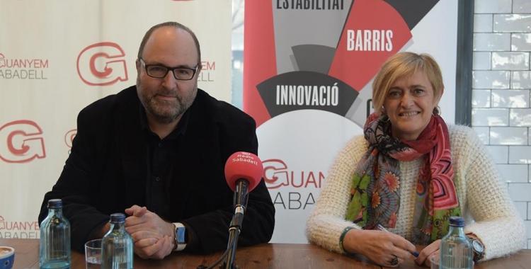 Miquel Soler i Marisol Martínez durant la roda de premsa   Roger Benet
