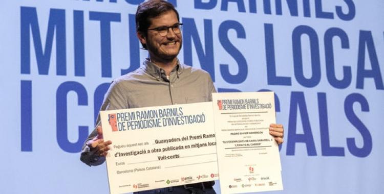 PJ Armengou recollint el Premi Ramon Barnils   ACN