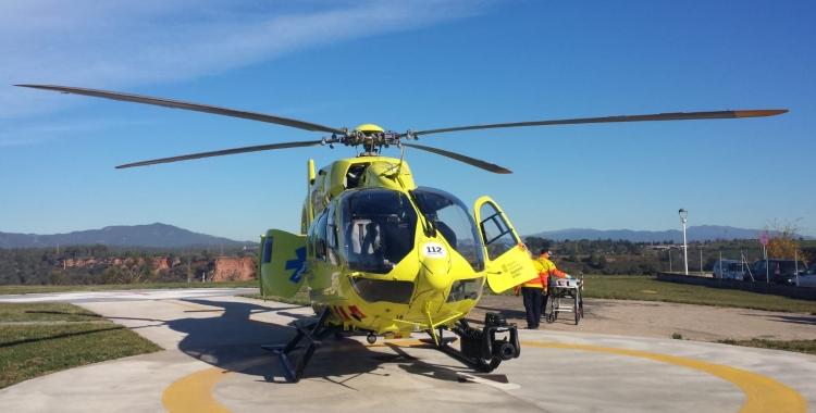 Imatge de l'helicòpter medicalitzat del SEM | Pau Duran