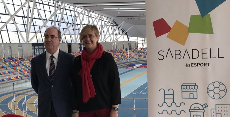 Marisol Martínez amb Joan Villuendas, president de la FCA | @sbdesports