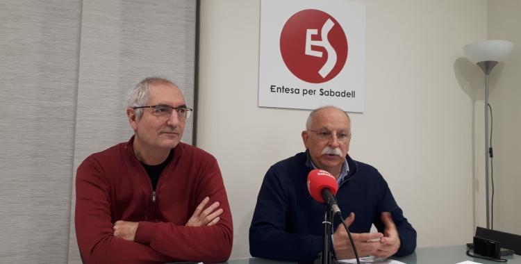 Isidre Soler (dreta) amb Joaquim Santesteban/ Karen Madrid