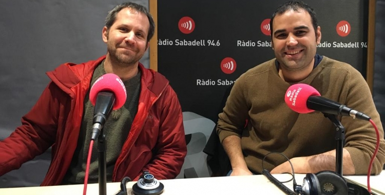 Pau Estartús i Christian Garcia aquest matí a Ràdio Sabadell | Mireia Sans