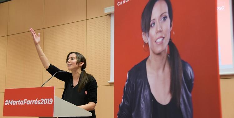 Marta Farrés durant el seu parlament | Roger Benet