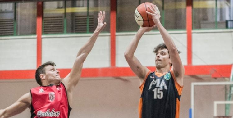 Damià Paez en el partit contra el Sitges | Bàsquet Pia