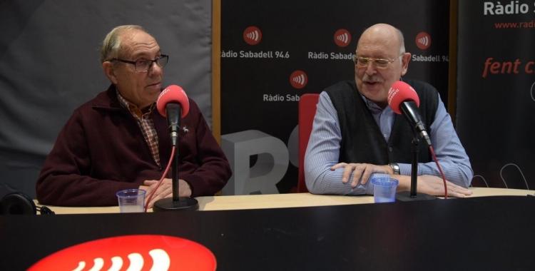 Martí Sala i Josep Masip a l'estudi de Ràdio Sabadell | Roger Benet