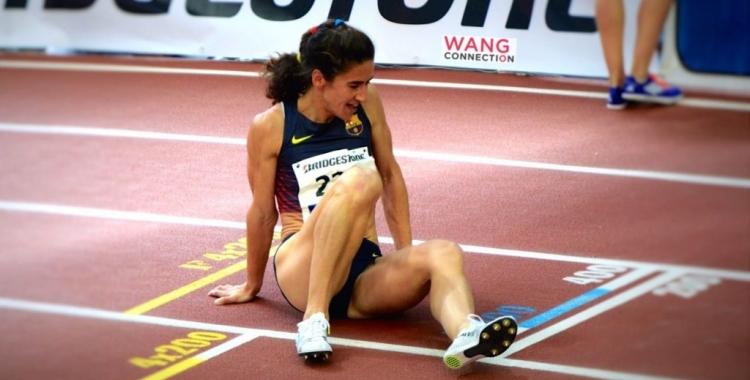 Montse Mas, atleta del Barça, campiona de Catalunya de 1.500