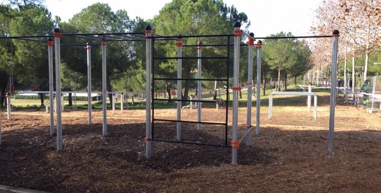 El nou parc d'Street Workout al Parc Catalunya | Pau Duran