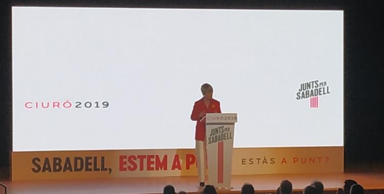 Lourdes Ciuró en l'acte de presentació del seu projecte de ciutat | Sergi Garcés