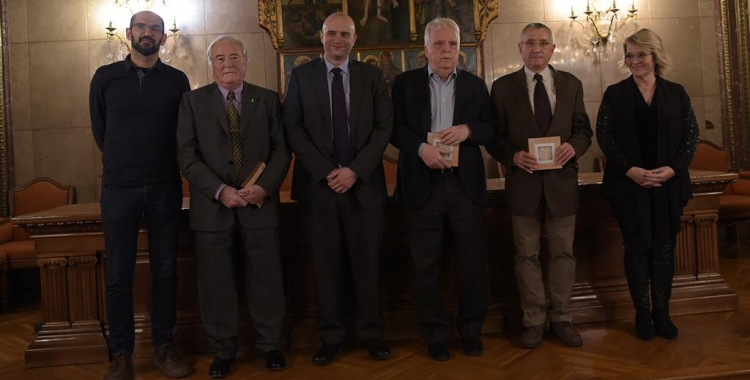 Els guanyadors juntament amb Maties Serracant, Blai Costa i NúriaAymerich | Roger Benet
