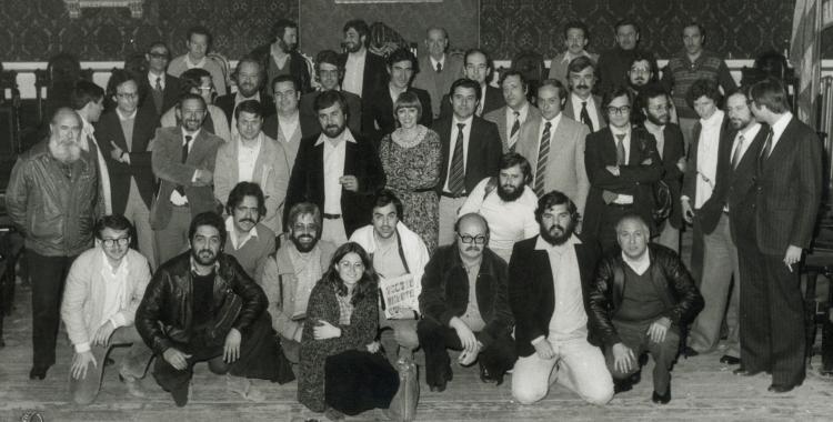 Presa de possessió del primer ajuntament el 1979   Joan Brunet i Mauri