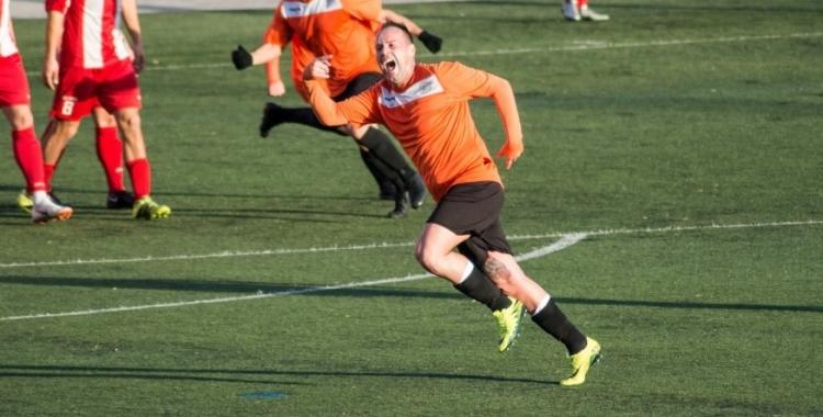 Nicolás, celebrant un dels últims gols | Aleix Camprubí