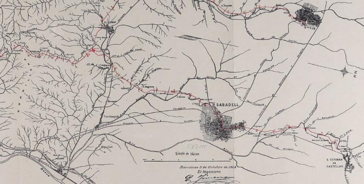 Mapa topogràfic amb les projecccions de Renom | Cedida