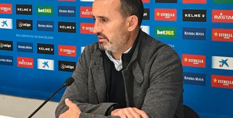Kiko Ramírez ahir a la Ciutat Esportiva Dani Jarque | Adrián Arroyo