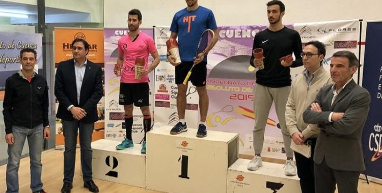 Pajares al tercer calaix del podi del Campionat d'Espanya | Cuenca Squash