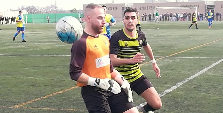 El porter Llorenç Granado va haver d'intervenir en nombroses ocasions. | Sergi Park